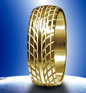 MS Auto Racing Wedding Band