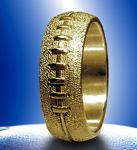 MS Football Wedding Band