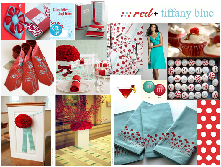 Red and aqua tiffany blue wedding and event inspiration