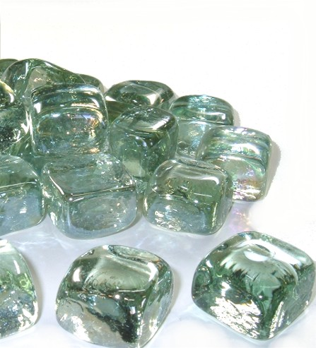 Ice cube glass crystals
